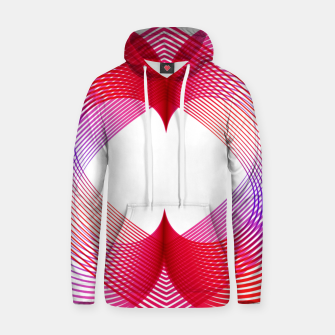 Miniaturka Geomtric abstract hearth Cotton hoodie, Live Heroes