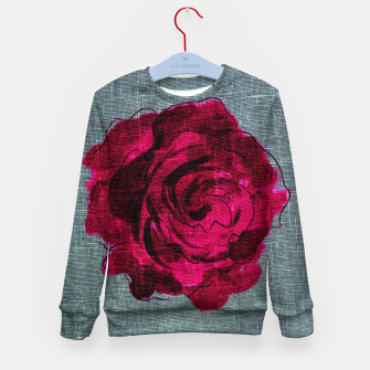 Imagen en miniatura de   Dark Rose Kid's sweater, Live Heroes