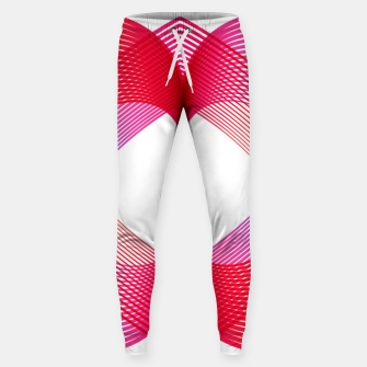 Miniaturka Geomtric abstract hearth Cotton sweatpants, Live Heroes