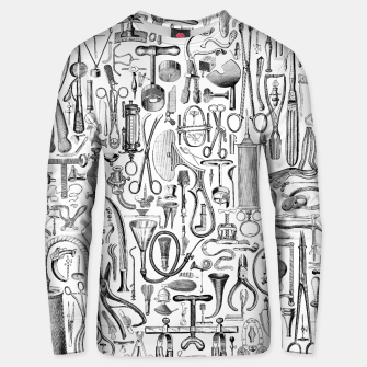 Thumbnail image of Medical Condition B&W Cotton sweater, Live Heroes