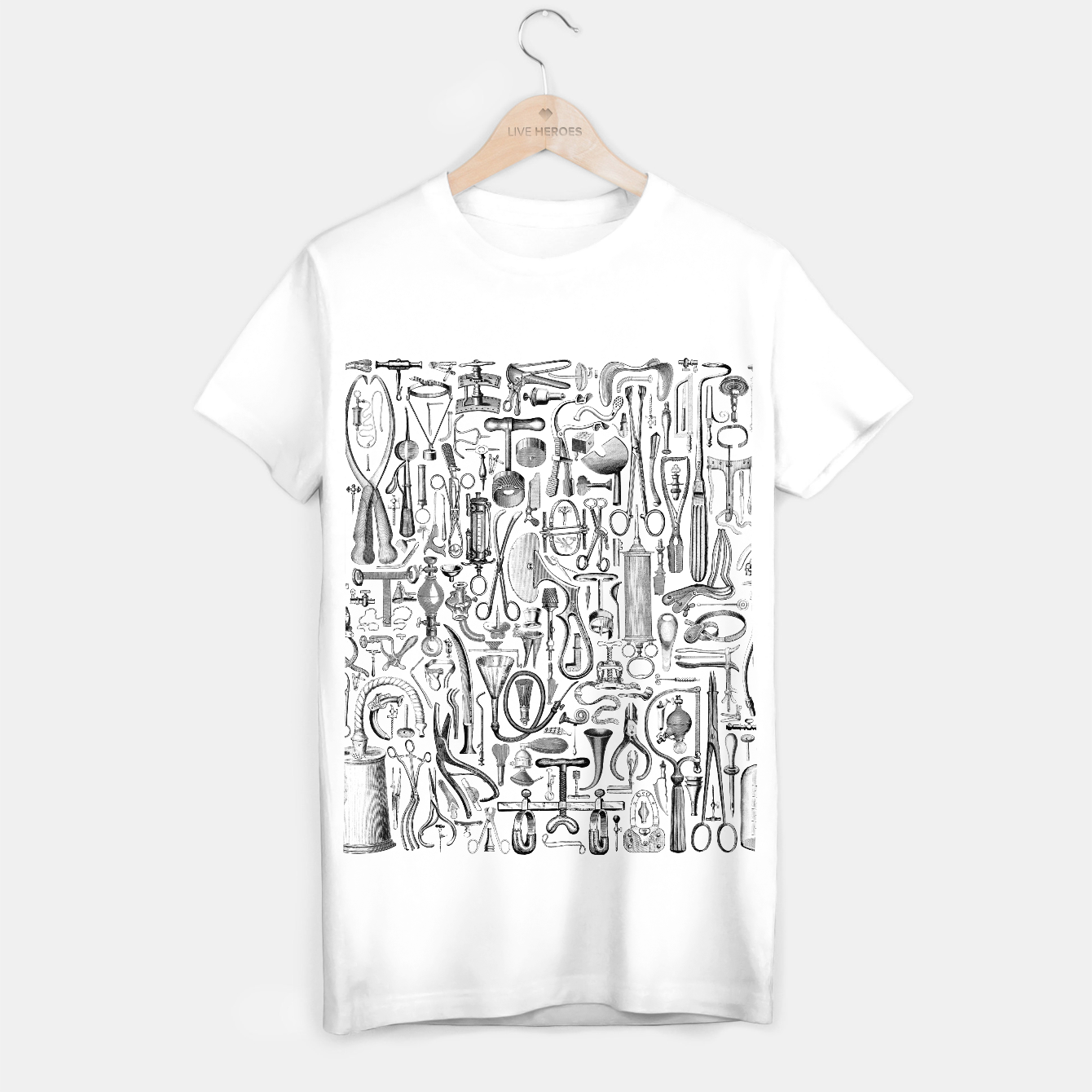 Image of Medical Condition B&W T-shirt regular - Live Heroes