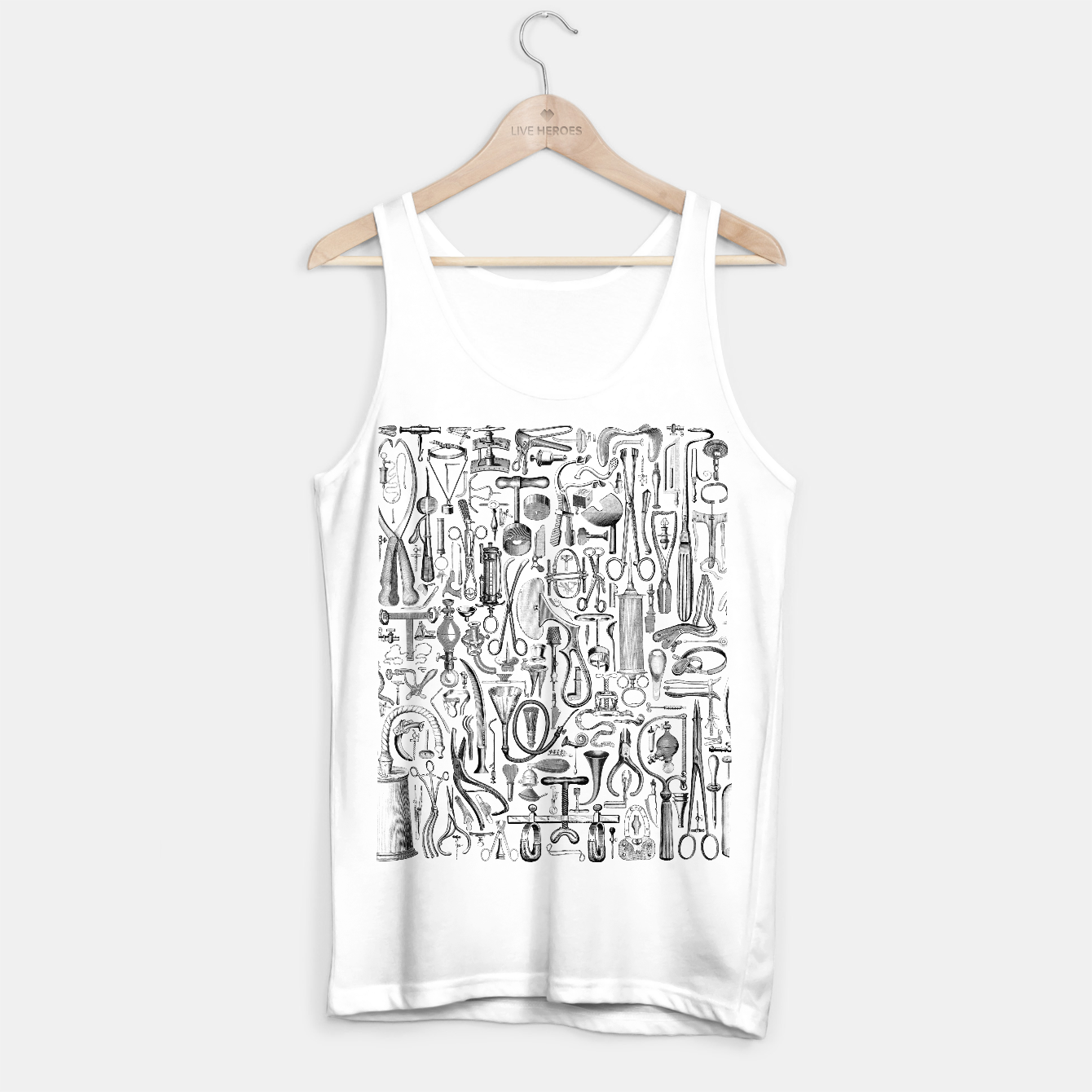 Image of Medical Condition B&W Tank Top regular - Live Heroes