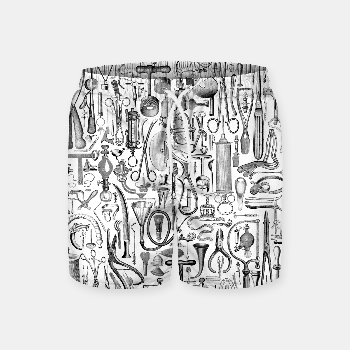 Image of Medical Condition B&W Swim Shorts - Live Heroes