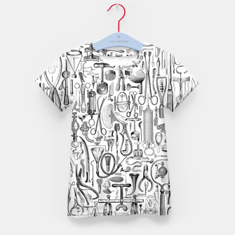 Thumbnail image of Medical Condition B&W Kid's t-shirt, Live Heroes