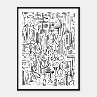 Thumbnail image of Medical Condition B&W Framed poster, Live Heroes