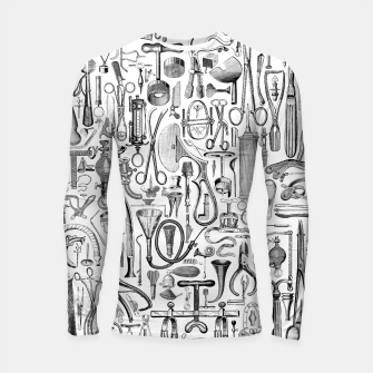 Thumbnail image of Medical Condition B&W Longsleeve rashguard , Live Heroes