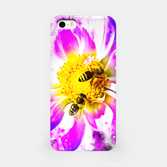 Imagen en miniatura de gxp bienen auf blume - bees on flower splatter watercolor iPhone-Hülle, Live Heroes
