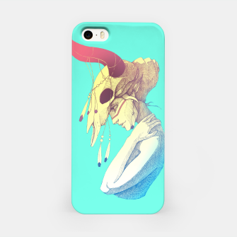 Thumbnail image of Woman & Skull Color version iPhone Case, Live Heroes