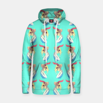 Woman & Skull Pattern Color Cotton hoodie Bild der Miniatur