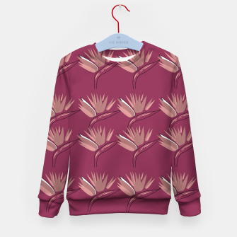 Thumbnail image of Kids sweater Pink flowers ethnic, Live Heroes