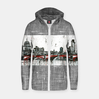 Thumbnail image of  London Cotton zip up hoodie, Live Heroes