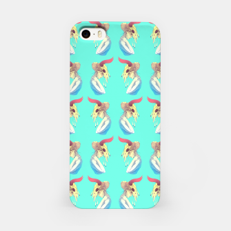 Woman & Skull Pattern Color iPhone Case Bild der Miniatur