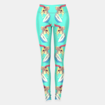 Miniature de image de Woman & Skull Pattern Color Leggings, Live Heroes