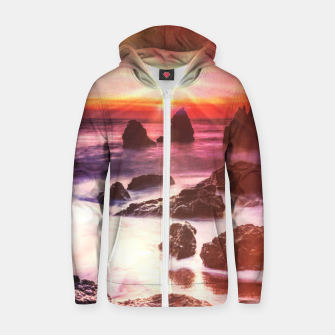 Thumbnail image of Heaven on Earth Cotton zip up hoodie, Live Heroes