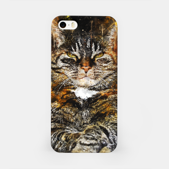Imagen en miniatura de gxp katze cat like a boss splatter watercolor iPhone-Hülle, Live Heroes