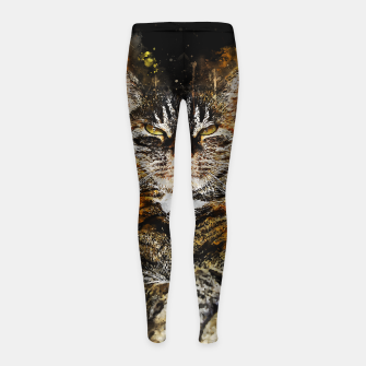 Miniaturka gxp katze cat like a boss splatter watercolor Kinder-Leggins, Live Heroes