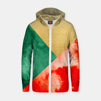 Thumbnail image of Holiday Spirit Cotton zip up hoodie, Live Heroes