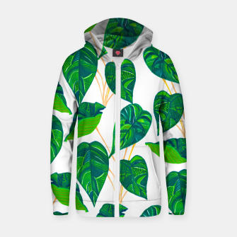 Miniatur House Plant Cotton zip up hoodie, Live Heroes