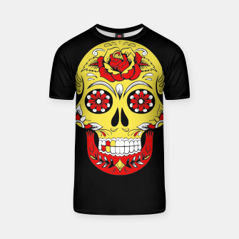 Thumbnail image of Skull Golden Bloodred Victorian  T-shirt, Live Heroes