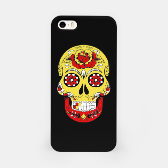 Imagen en miniatura de Skull Golden Bloodred Victorian  iPhone Case, Live Heroes