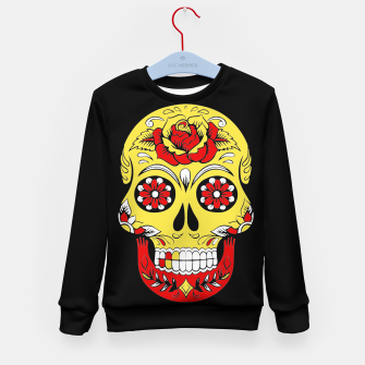 Imagen en miniatura de Skull Golden Bloodred Victorian  Kid's sweater, Live Heroes