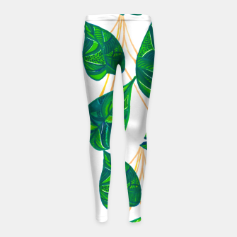 Miniaturka House Plant Girl's leggings, Live Heroes