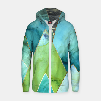 Thumbnail image of Moonlit Mountains Cotton zip up hoodie, Live Heroes