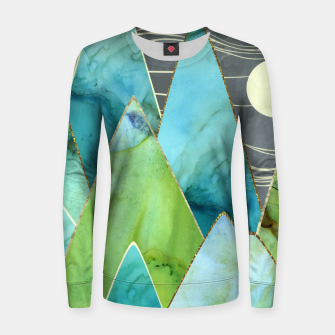 Thumbnail image of Moonlit Mountains Woman cotton sweater, Live Heroes