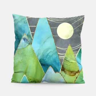Thumbnail image of Moonlit Mountains Pillow, Live Heroes