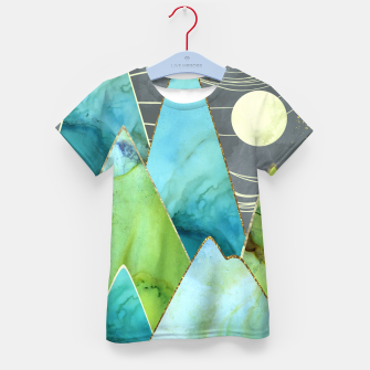 Thumbnail image of Moonlit Mountains Kid's t-shirt, Live Heroes