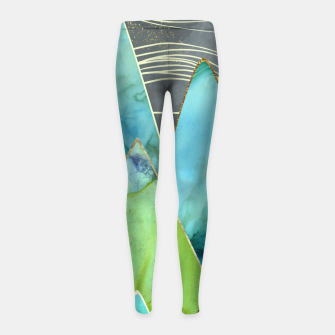 Miniaturka Moonlit Mountains Girl's leggings, Live Heroes