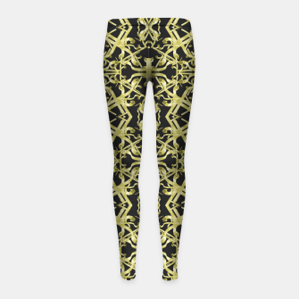 Miniaturka Golden Ornate Intricate Pattern Girl's leggings, Live Heroes