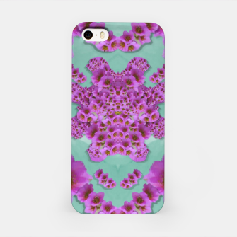 Miniatur climbing and loving beautiful flowers of fantasy florals iPhone Case, Live Heroes