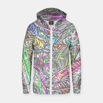 keep driving Cotton zip up hoodie thumbnail image