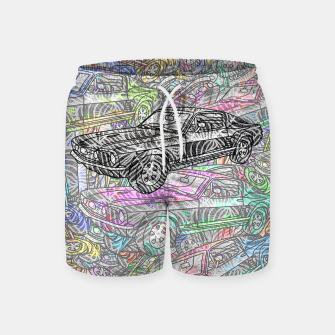 Thumbnail image of keep driving Swim Shorts, Live Heroes