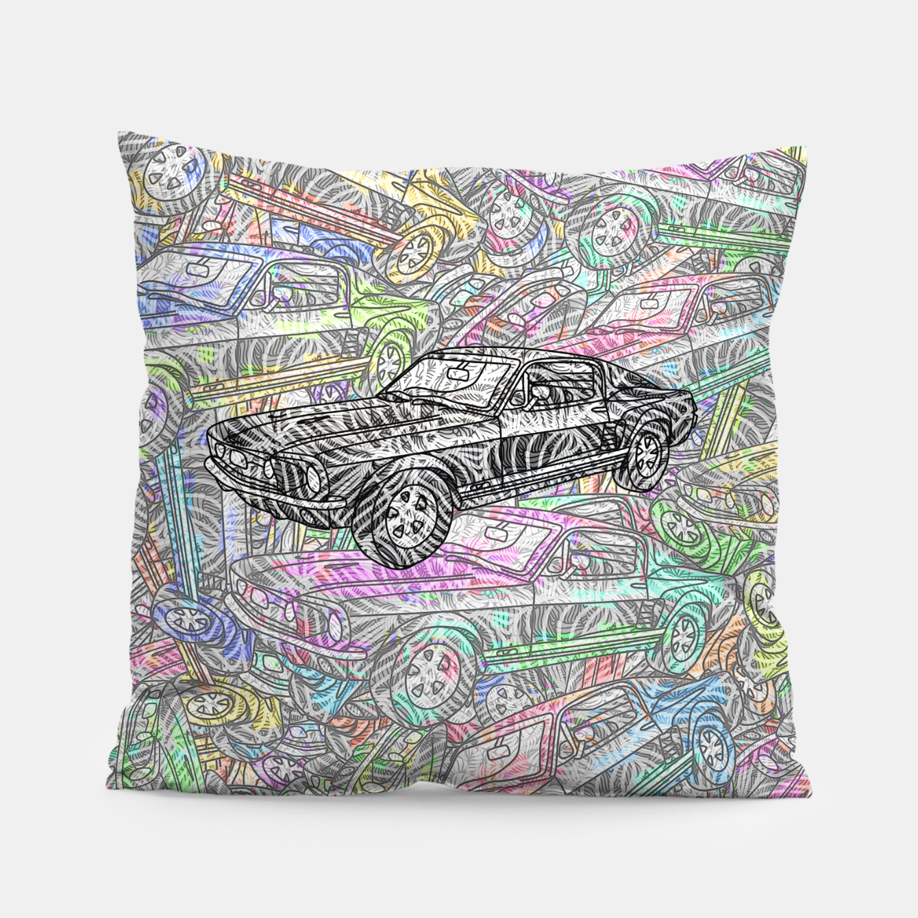 Image of keep driving Pillow - Live Heroes