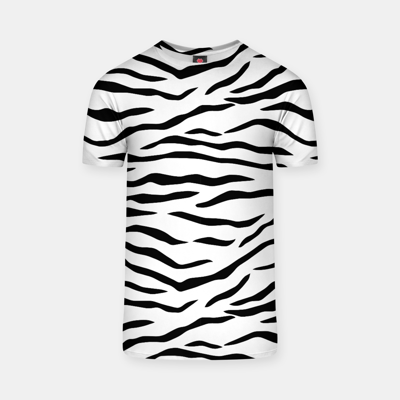 Black And White Tiger Stripes T Shirt Live Heroes