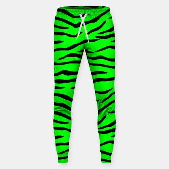 Thumbnail image of Bright Neon Green and Black Tiger Stripes  Cotton sweatpants, Live Heroes