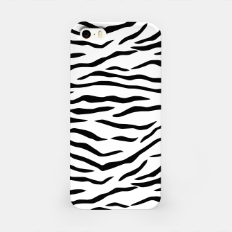 Miniatur Black and White Tiger Stripes iPhone Case, Live Heroes