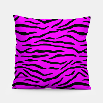 Miniaturka Hot Pink Neon and Black Tiger Stripes Pillow, Live Heroes