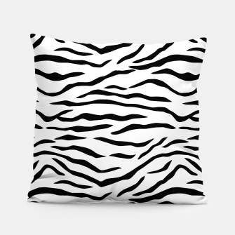 Miniaturka Black and White Tiger Stripes Pillow, Live Heroes