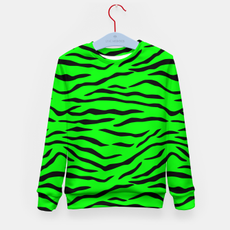 Imagen en miniatura de Bright Neon Green and Black Tiger Stripes  Kid's sweater, Live Heroes
