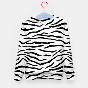 Imagen en miniatura de Black and White Tiger Stripes Kid's sweater, Live Heroes