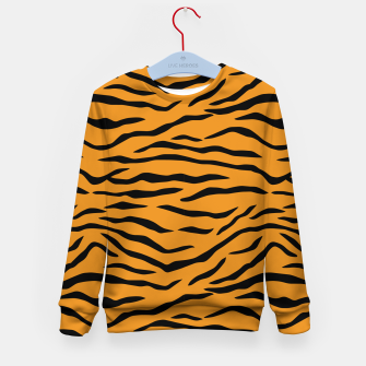 Imagen en miniatura de Orange and Black Tiger Stripes Kid's sweater, Live Heroes