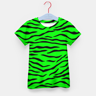 Thumbnail image of Bright Neon Green and Black Tiger Stripes  Kid's t-shirt, Live Heroes