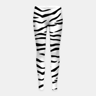 Miniaturka Black and White Tiger Stripes Girl's leggings, Live Heroes