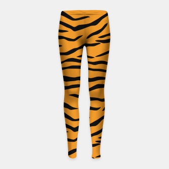 Miniaturka Orange and Black Tiger Stripes Girl's leggings, Live Heroes