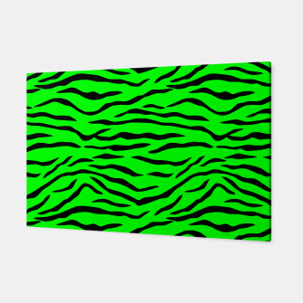 Thumbnail image of Bright Neon Green and Black Tiger Stripes  Canvas, Live Heroes