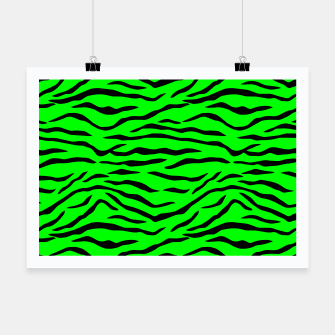Thumbnail image of Bright Neon Green and Black Tiger Stripes  Poster, Live Heroes