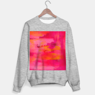 "Miniatur ""Abstract brushstrokes in pastel pinks and oranges decorative pattern"" Sudadera regular, Live Heroes"